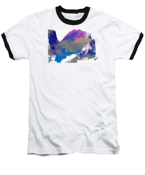 Baseball T-Shirt featuring the painting Miss Emma's Abstract by Fred Wilson