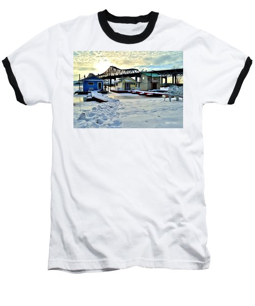 Mississippi River Boathouses Baseball T-Shirt