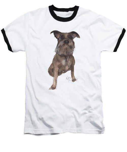 Missy Grace Ellen A Dog Baseball T-Shirt by Kathleen McElwaine
