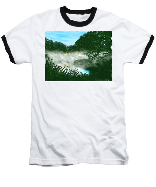 Mist On The River Ouse Baseball T-Shirt