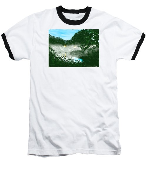 Mist On The River Ouse Baseball T-Shirt