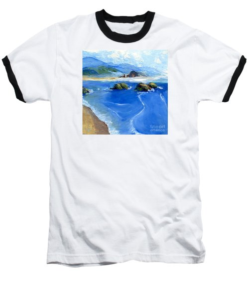 Misty Bodega Bay Baseball T-Shirt