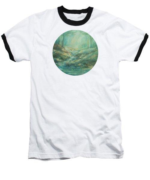 The Misty Forest Stream Baseball T-Shirt