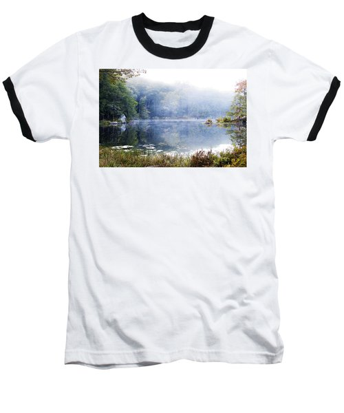 Misty Morning At John Burroughs #1 Baseball T-Shirt by Jeff Severson