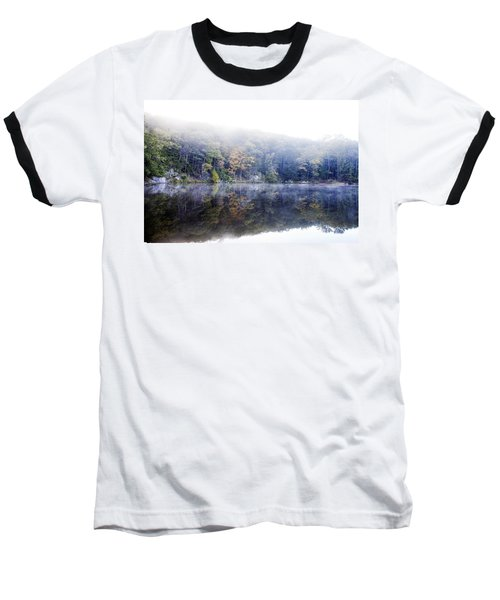 Misty Morning At John Burroughs #2 Baseball T-Shirt by Jeff Severson