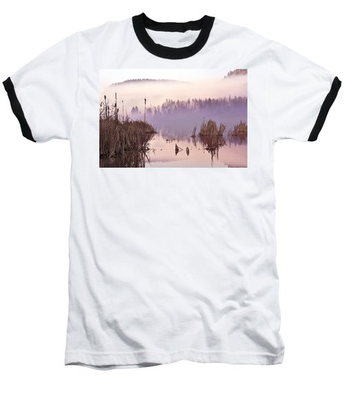 Misty Morning At Vaseux Lake Baseball T-Shirt