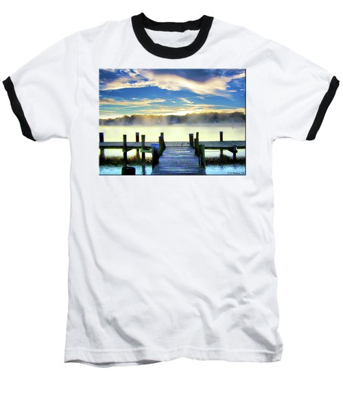 Baseball T-Shirt featuring the photograph Misty Morning On Rock Creek by Brian Wallace
