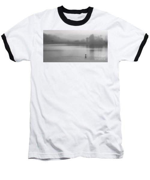 Misty Morning On The Lake Baseball T-Shirt by Linsey Williams