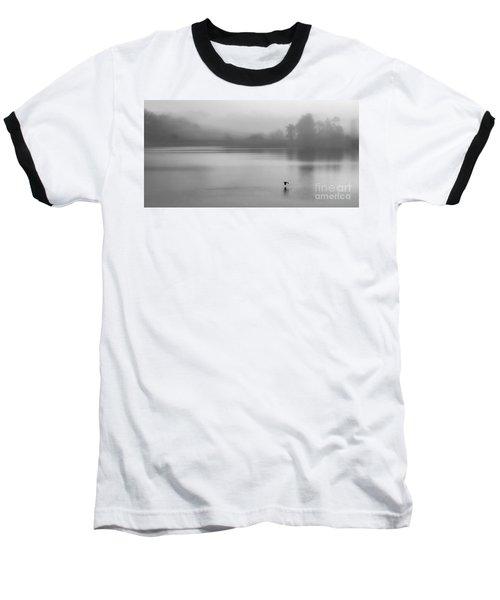 Misty Morning On The Lake Baseball T-Shirt