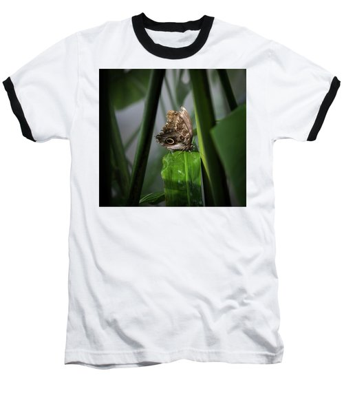 Baseball T-Shirt featuring the photograph Misty Morning Owl by Karen Wiles