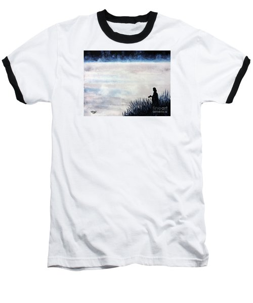 Misty Morning Photographer Baseball T-Shirt by Tom Riggs