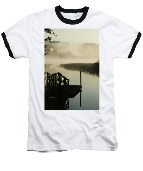 Misty Oregon Morning Baseball T-Shirt
