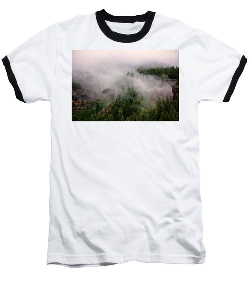 Baseball T-Shirt featuring the photograph Misty Pines by Lana Trussell