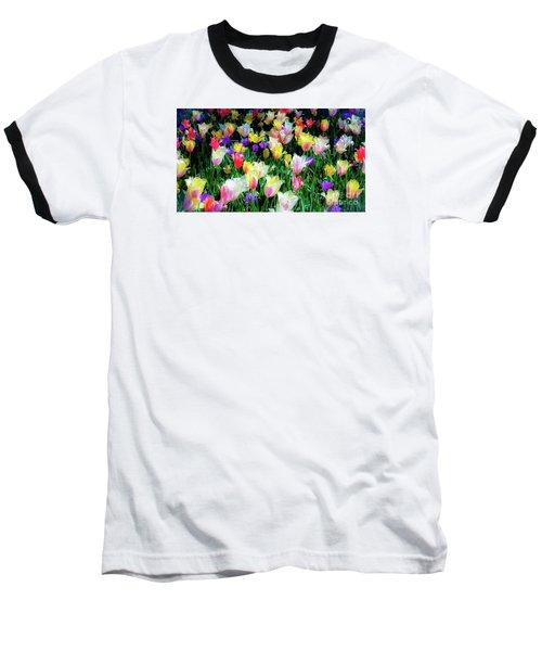 Mixed Tulips In Bloom  Baseball T-Shirt