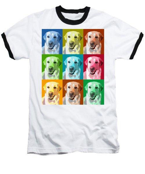 Golden Retriever Warhol Baseball T-Shirt