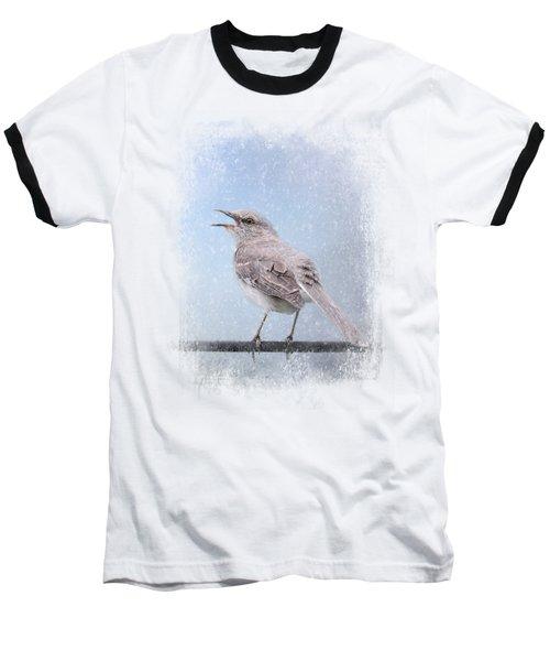 Mockingbird In The Snow Baseball T-Shirt