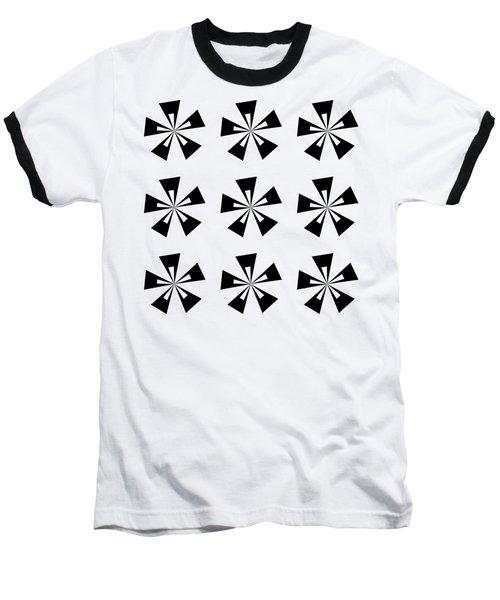 Mod Flowers Group Transparent Baseball T-Shirt