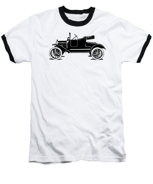 Model T Roadster Pop Art Black Baseball T-Shirt