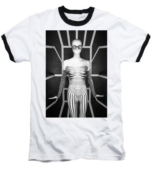 Modern Black And White Baseball T-Shirt by Scott Meyer