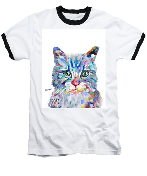 Modern Cat Baseball T-Shirt