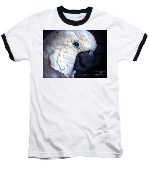 Moluccan Cockatoo Baseball T-Shirt by Melissa Messick