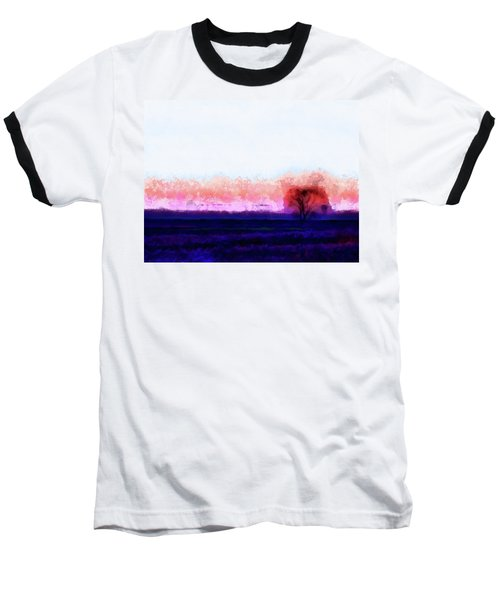 Moment In Blue Horizon Tree Baseball T-Shirt by Cedric Hampton