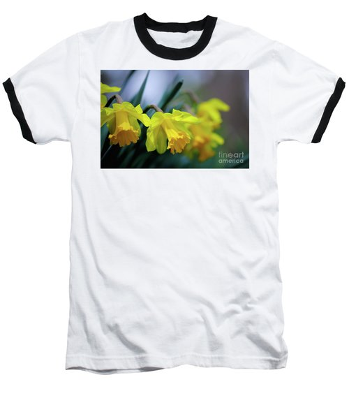 Baseball T-Shirt featuring the photograph Mom's Daffs by Lois Bryan