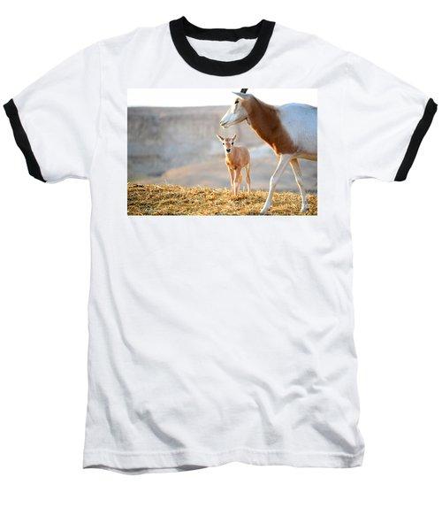 Mom's Supervision Baseball T-Shirt by Arik Baltinester