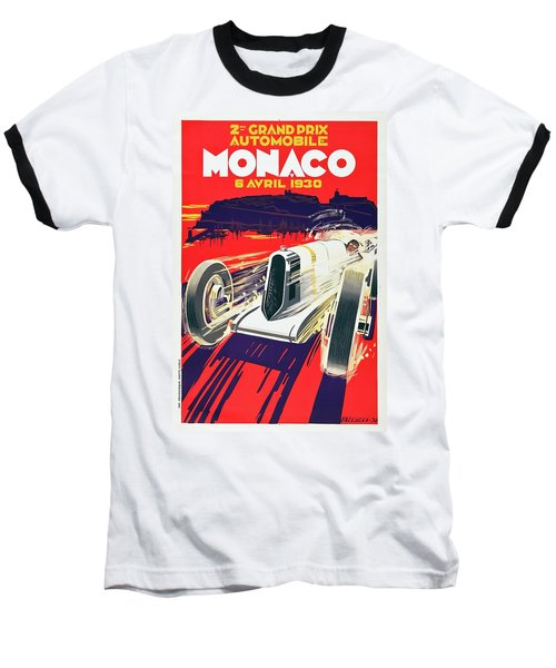 Monaco Grand Prix 1930 Baseball T-Shirt by Taylan Apukovska