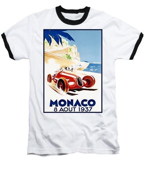 Monaco Grand Prix 1937 Baseball T-Shirt