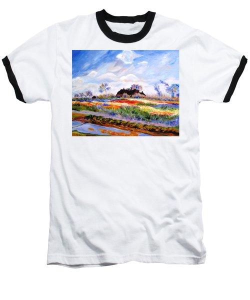 Monet's Tulips Baseball T-Shirt