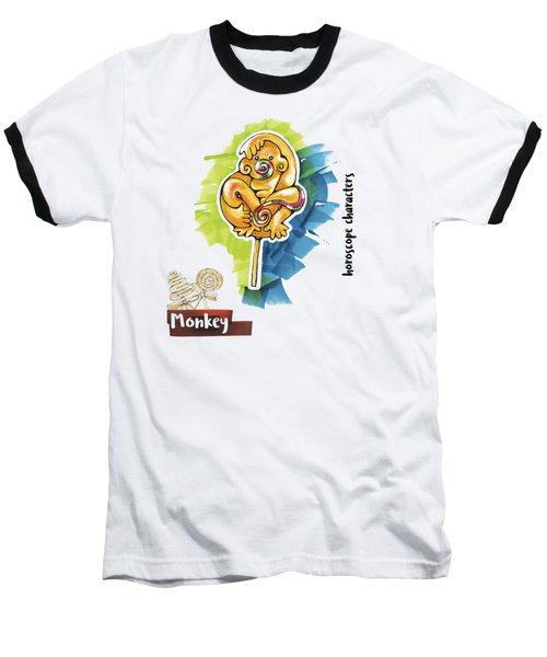 Monkey Horoscope Baseball T-Shirt