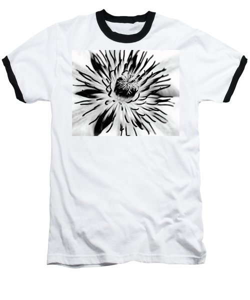 Mono Clematis Baseball T-Shirt by Stephen Melia