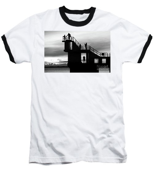 Mono Sunset Blackrock  Baseball T-Shirt