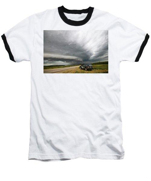 Monster Storm Near Yorkton Sk Baseball T-Shirt