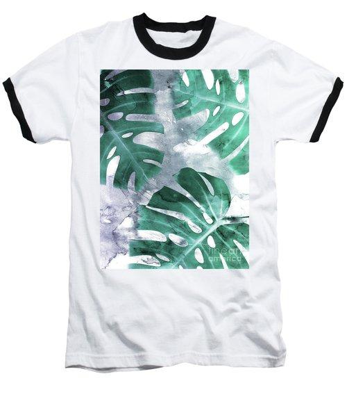 Monstera Theme 1 Baseball T-Shirt