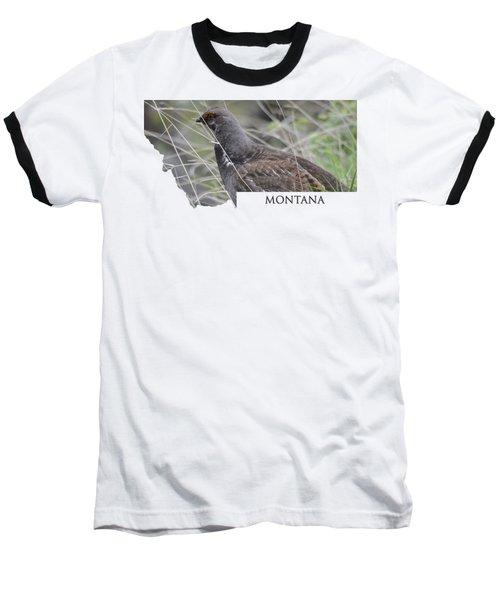 Montana- Dusky Grouse Baseball T-Shirt