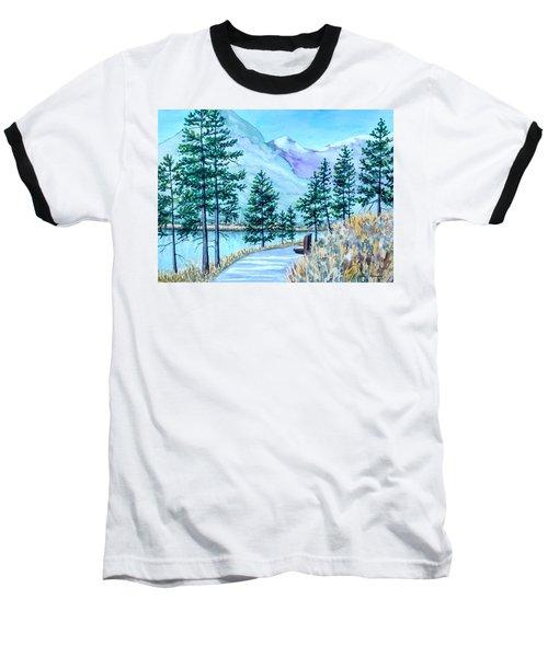 Montana Lake Como With Bench Baseball T-Shirt