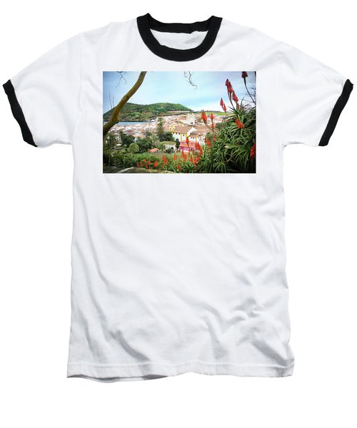Monte Brasil And Angra Do Heroismo, Terceira Baseball T-Shirt by Kelly Hazel