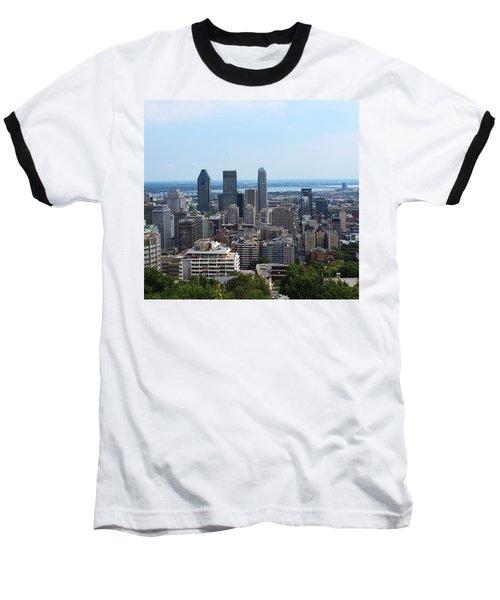 Montreal Cityscape Baseball T-Shirt