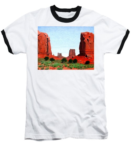 Monument Valley North Window Baseball T-Shirt by Mike Robles