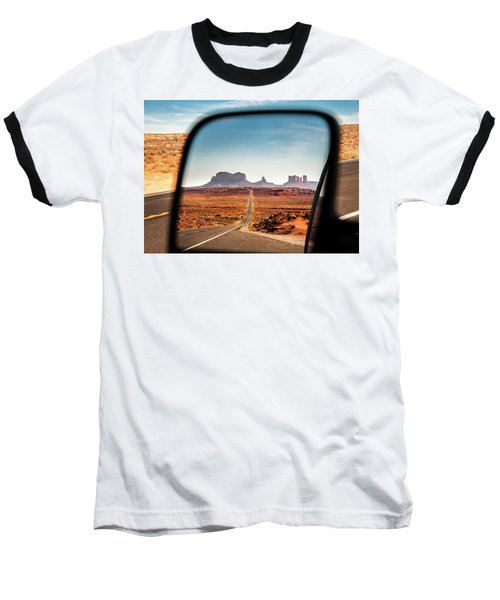 Monument Valley Rearview Mirror Baseball T-Shirt