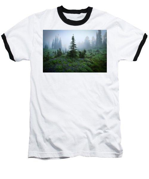 Moody Myrtle Falls Trail At Mount Rainier Baseball T-Shirt by Lynn Hopwood