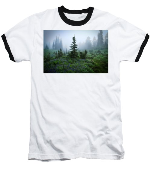 Moody Myrtle Falls Trail At Mount Rainier Baseball T-Shirt