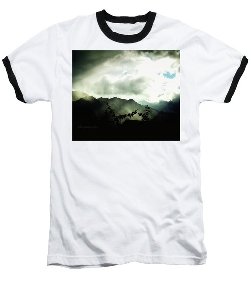 Moody Weather Baseball T-Shirt by Mimulux patricia no No