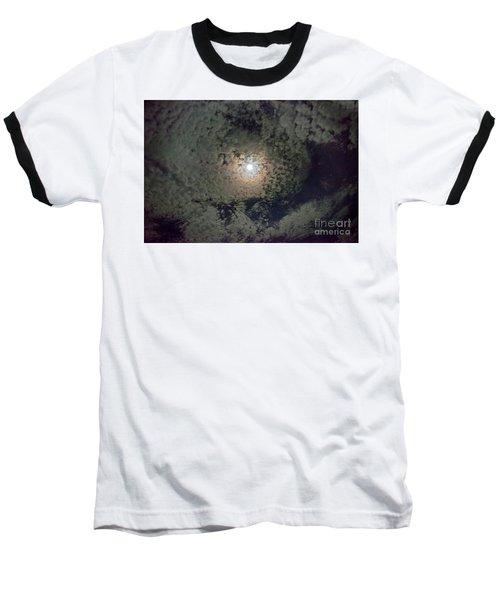 Moon And Clouds Baseball T-Shirt