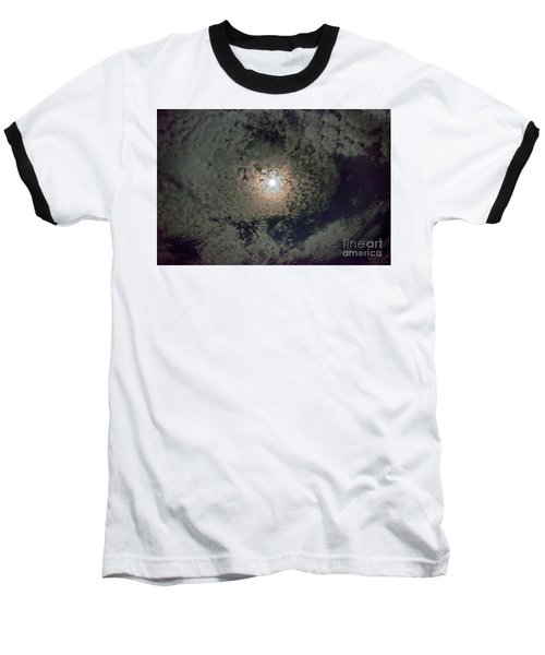 Moon And Clouds Baseball T-Shirt
