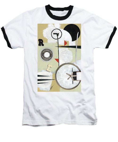 Baseball T-Shirt featuring the painting Moon And Stars In Space by Michal Mitak Mahgerefteh