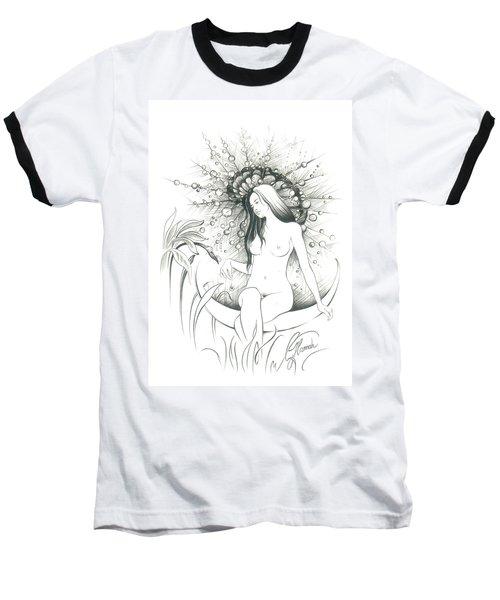Moon Dew Baseball T-Shirt by Anna Ewa Miarczynska
