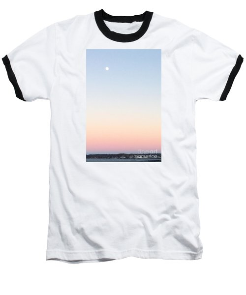 Moon In Twilight Sky Baseball T-Shirt by Patricia E Sundik